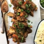 beer braised short ribs with mustard - melt in your mouth beef