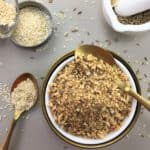 Almond dukkah - a tasty blend of nuts, seeds & spice