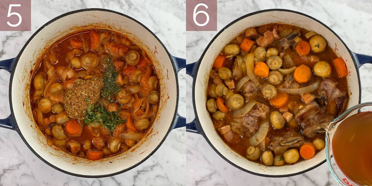 step by step photos showing method of cooking recipe