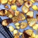 Oven baked super crispy potato skins - crunchy & lightly spiced