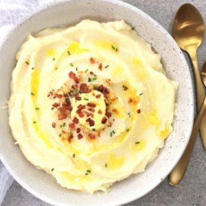 Cauliflower puree - easy creamy puree of cauliflower & potato