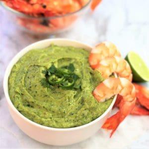 Avocado cilantro (coriander) dip - done in 10 mins