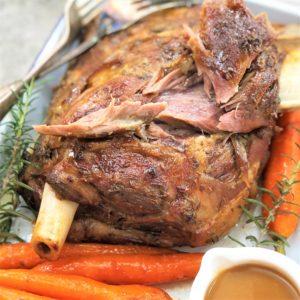slow roasted lamb shoulder - super moist & tender
