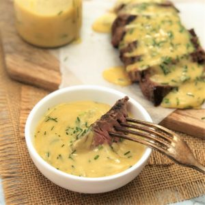 double mustard and garlic sauce - quick and simple microwave butter sauce with mustard and garlic