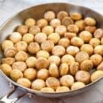 process shot showing how to make garlic butter mushrooms