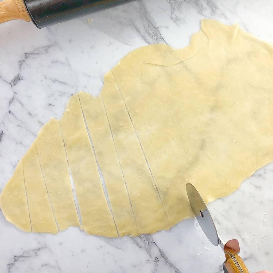 process shot for lavosh crackers