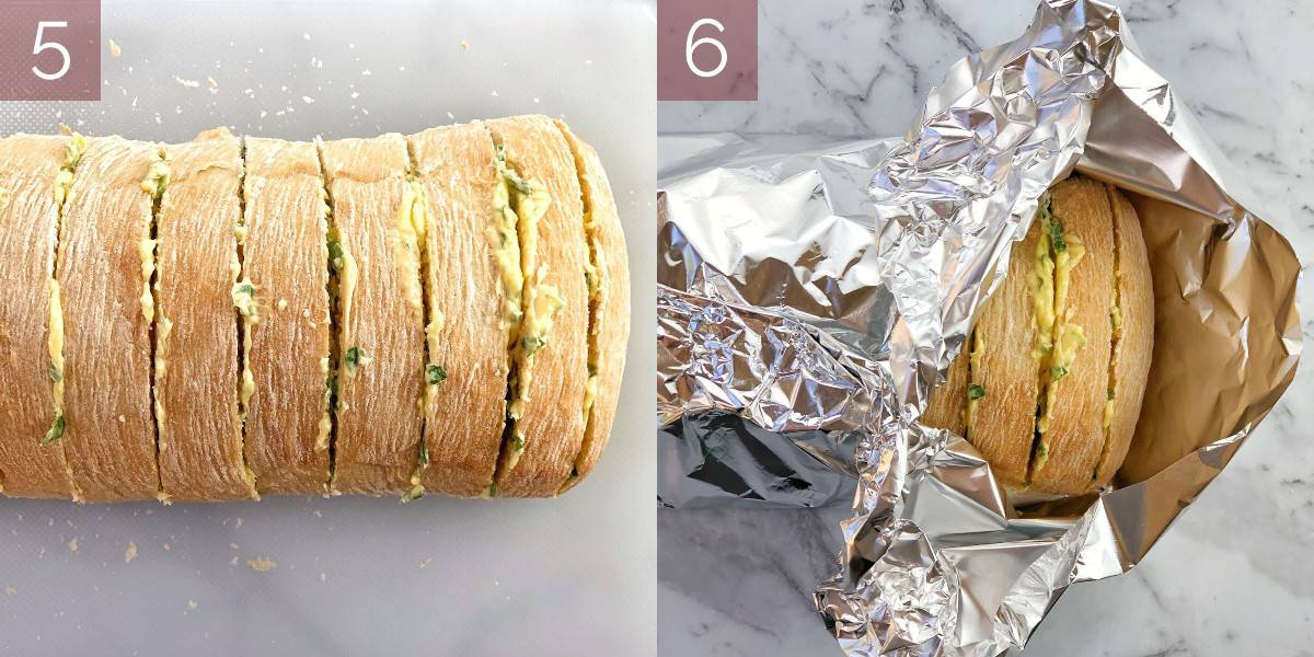 photos showing process of making recipe