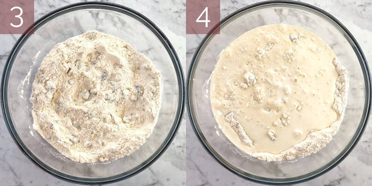 process shots showing how to make the recipe