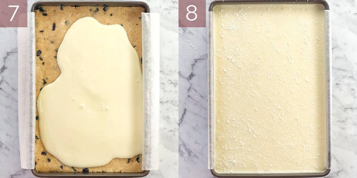 images showing process of making lemon slice recipe