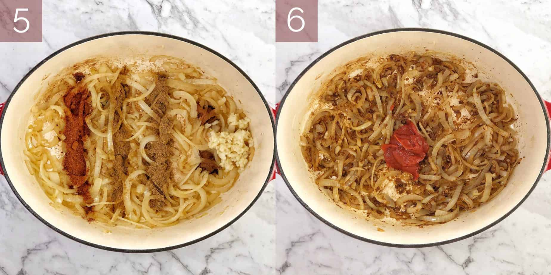 photos showing process to cook recipe