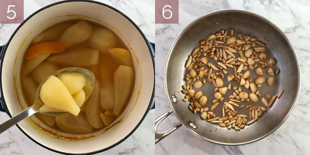 images showing how to make stewed pears